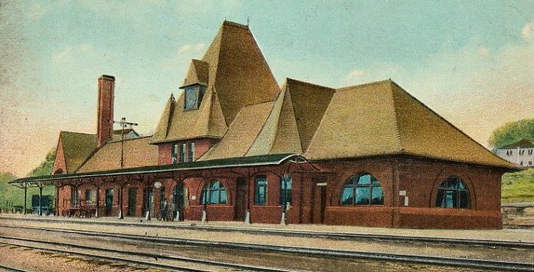 Depot Postcard from Early 1900s